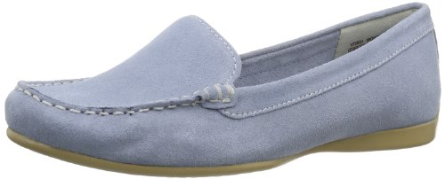 Rockport Womens DEMISA PLAIN MOC FADED DENIM Moccasins Blue Blau (DENIM) Size: 36.5