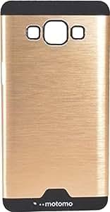 Infinito Luxury Metallic Hard Back Case Cove For Samsung Galaxy J5 (Gold)