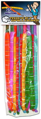 25 Rocket Balloons Refills Kids Party Toy - 1