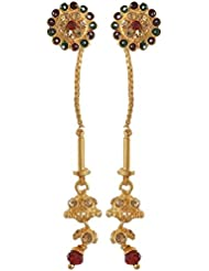Jewelstone Brass Gold Plated Dangle And Drop Earring For Women