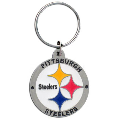 Pittsburgh Steelers Round NFL Football Keychain at Steeler Mania