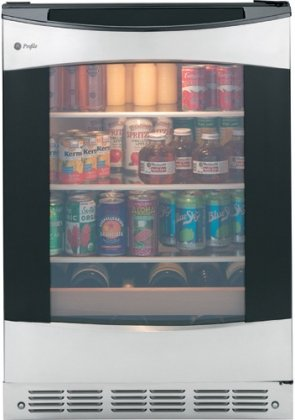 "Ge Pcr06Batss Profile 24"" 5.3 Cu. Ft. 12 Bottle Capacity Stainless Steel Undercounter Beverage Center front-1028066"