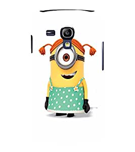 EPICCASE Minion girl Mobile Back Case Cover For Samsung Galaxy S3 Mini (Designer Case)