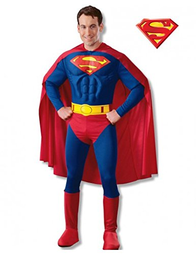 Deluxe Muscle Chest Superman Costume - Large - Chest Size 42-44