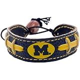 Michigan Wolverines Team Color NCAA Gamewear Leather Football Bracelet