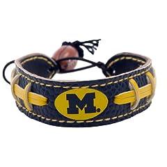 Buy Michigan Wolverines Team Color Football Bracelet by GameWear