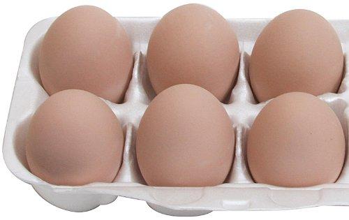 Mexas Farms Ceramic Chicken Nesting Eggs Brown 1/2 dozen (6) (Chicken Nesting Eggs compare prices)