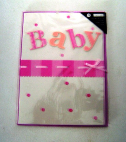 Hand crafted luxury greeting card Baby Girl *Free UK delivery*