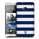 Head Case Blue And White Stripe Design Protective Back Case Cover For Htc One
