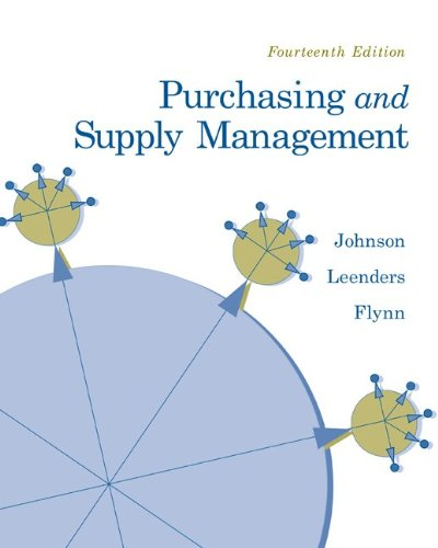 Purchasing and Supply Management (McGraw-Hill/Irwin