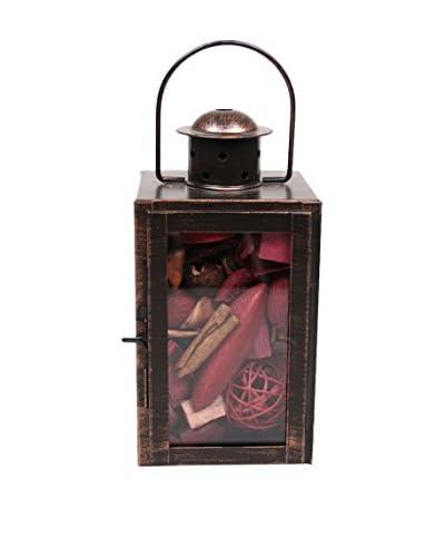Jodhpuri Apple Cinnamon Potpourri-Filled Lantern, Red/White