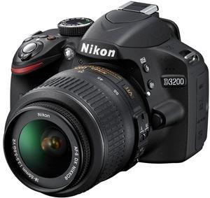 Nikon D3200 24.2 MP CMOS Digital SLR with 18-55mm f/3.5-5.6 AF-S DX VR NIKKOR Zoom Lens (Black)