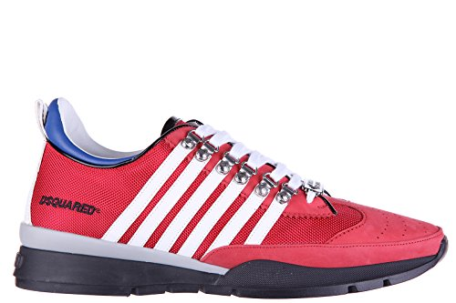 Dsquared2 Herrenschuhe Herren Leder Schuhe Sneakers Stoff tecnico 251 Rot EU 40 S16SN101 081 M078 thumbnail