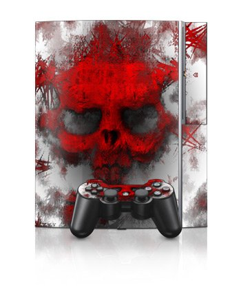 War Light Design Protector Skin Decal Sticker for PS3 Playstation 3 Body Console