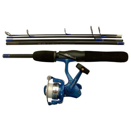 Shakespeare travel mate telescopic rod reel combo 4 for Ultra light fishing rod and reel combos