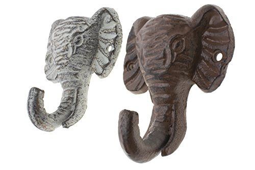 """Cast Iron Elephant Single Wall Hook / Hanger 