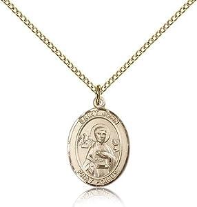 Gold Filled Women's Patron Saint Medal of ST. JOHN the APOSTLE