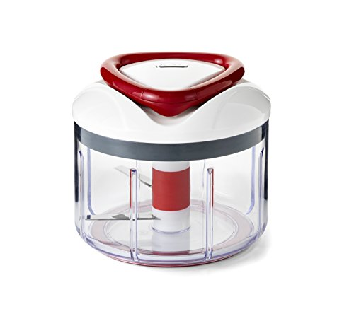 Zyliss E910015U Easy Pull Manual Food Processor and Chopper, Red