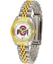 Ohio State Buckeyes OSU NCAA Womens 23Kt Gold Watch