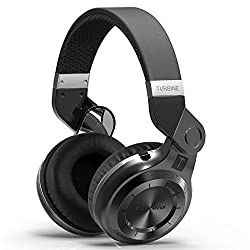 Mactrem Bluedio T2 Turbo Black Wireless Bluetooth 4.1 Stereo Headphones Noise Headset with Mic High Bass Quality