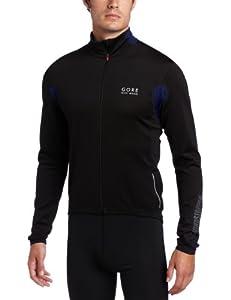 Gore Bike Wear Men's Ozon Windstopper Long Sleeve Jersey, Small, Black/Navy Blue