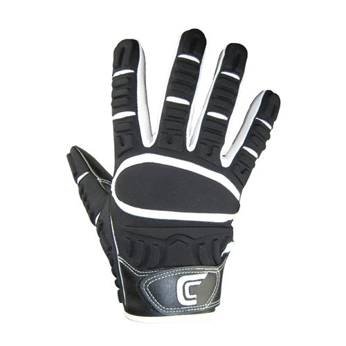 Cutters The Gamer Football Gloves (Black, XX-Large)