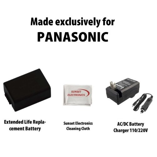 Li-Ion Extended Life Replacement Battery Pack for Panasonic DMW-BMB9 1300mAh! For Panasonic Lumix DMC-FZ40 DMC-FZ45 DMC-FZ48 DMC-FZ100 Digital Cameras + 110/220V 1 Hour Home & Car Charger + SSE Cleaning Cloth