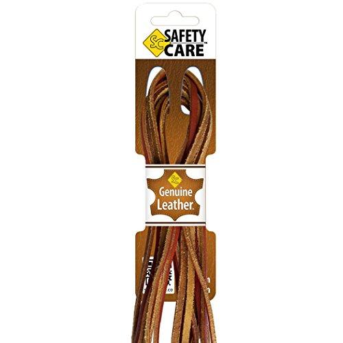 safetycare Heavy Duty Stivali in pelle e lacci per scarpe, ideale per saldatura e stivali da lavoro, Barca, Scarpe, Guanti da baseball, arti e mestieri, (Tan - 1 pair), 183 cm