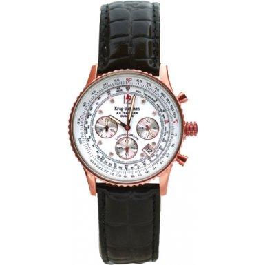 krug-baumen-400702ds-air-traveller-white-dial-rose-black-leather-strap