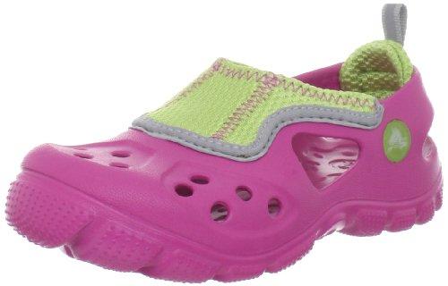 crocs 14304 Micah II C Sandal (Toddler/Little Kid),Fuchsia/Volt Green,10 M US Toddler
