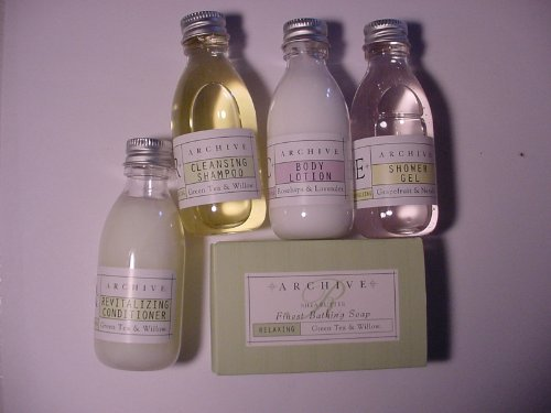 Archive Essentials Travel Set Shampoo Conditioner Lotion Shower Gel and Soap