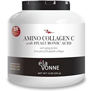 Amino collagen c with hyaluronic acid 60 day for Fish collagen powder
