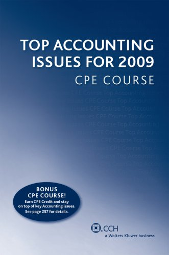 Top Accounting Issues for 2009 CPE Course