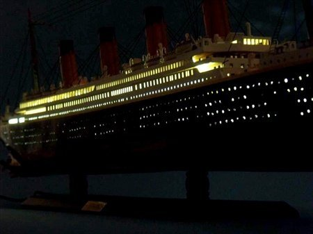 Handcrafted Model Ships Britannic40-Lights RMS Britannic Limited 40 in. With LED Lights Decorative Cruise Ship (Britannic Model compare prices)