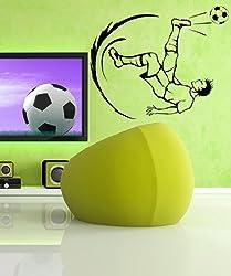 Vinyl Wall Decal Sticker Soccer Football Player Kick GFoster129