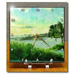 Cheap Florene Impressionism Art – Beach Time Ends – Desk Clocks (B0058KN1RQ)