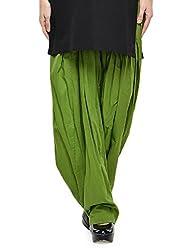 Stylenmart Women Cotton Solid Full Patiala Salwar (Stmapa078635 _Green _Free Size)