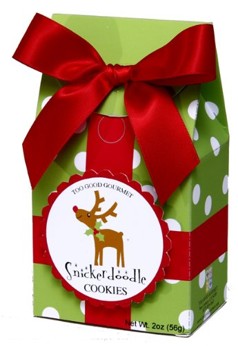 Too Good Gourmet Snickerdoodle Cookies in Polka Dot Box with Reindeer, 2-Ounce Packages (Pack of 12)
