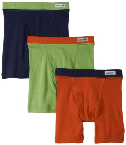 Fruit of the Loom Little Boys' Assorted Color Boxer Brief ,Assorted,2T/3T(Pack of 3)
