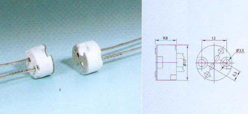 20 Qty. Divine Lighting Round Multi-Base Socket G4 G5.3 Gy6.35 Lamp Holder