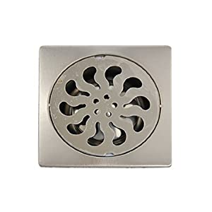 Metal square one way sink floor drain 4 inch for 12 inch floor drain cover