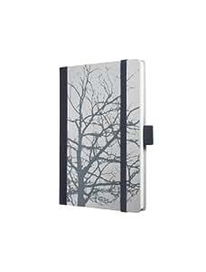 Sigel CO515 Notizbuch, Design Botanical, ca. A6, blanko, Hardcover, grau, CONCEPTUM