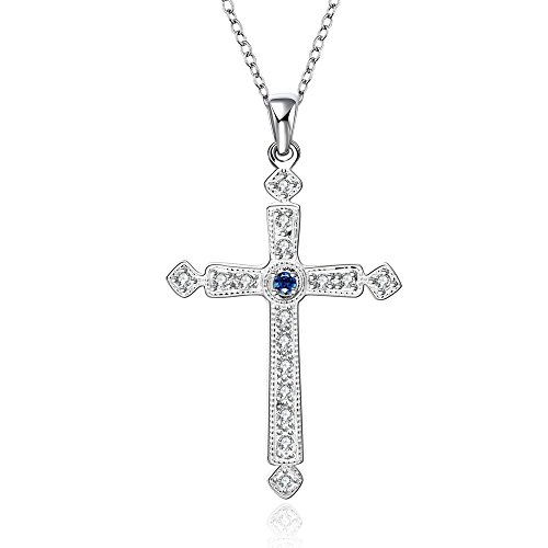 nykkola-925-sterling-silver-plated-elegant-fashion-style-religion-cross-blue-crystal-necklace-jewell