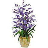 Triple Dancing Lady Silk Orchid Arrangement in Purple