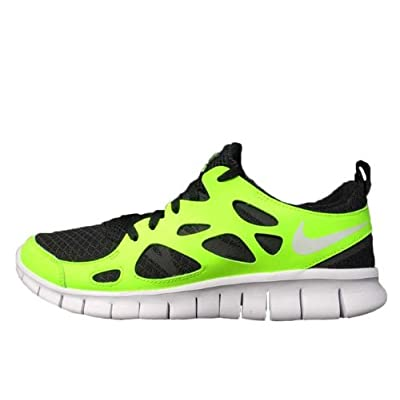 Nike Free Run 2.0 GS Volt Black White Youth Light Running Shoes 443742