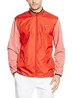Nike Chaqueta Golf Full - Zip Shield (Rojo)