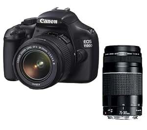 CANON 1100D + objectif EF-S 18-55 mm III DC + objectif EF 75-300 mm III DC . + GARANTIE 2 ANS!