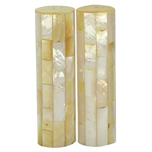 Mother-Of-Pearl Large Salt And Pepper Shakers