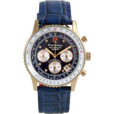 krug-baumen-400207ds-air-traveller-blue-dial-blue-strap
