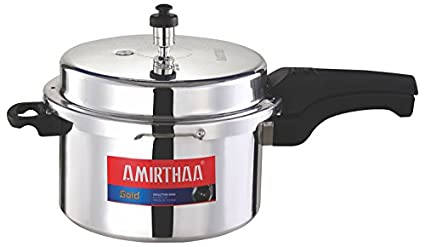 Amirthaa AM_118 GOLD Aluminium 7.5 L Pressure Cooker (Induction Base, Outer Lid)